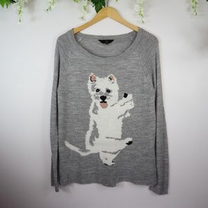 Jack by B.B. Dakota Dancing Dog Sweater M